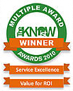 Value for Return on Investment Award + Service Excellence Award
